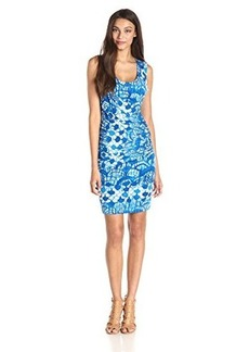 Tracy Reese Women's Draped Jersey Scallop Print Dress