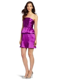 Tracy Reese Women's Draped Peplum Strapless Dress