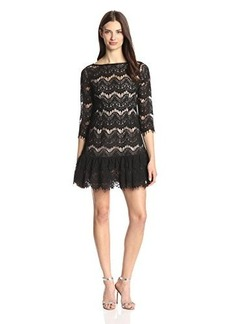 Tracy Reese Women's Drop-Waist Lace Flounce Dress