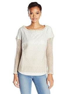 Tracy Reese Women's Felted Quilted Shirtail Top, Oatmeal, Small