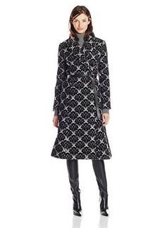 Tracy Reese Women's Flocked Double Breast Flared Coat
