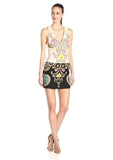 Tracy Reese Women's Floral Embroidered Linen Mini Dress