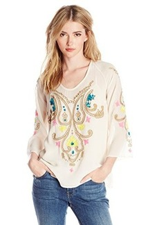 Tracy Reese Women's Floral Embroidered Silk Georgette Blouse