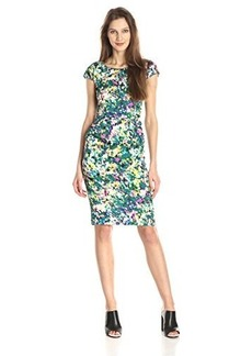 Tracy Reese Women's Silk Floral Print Sheath Dress, Dappled Oasis, 2