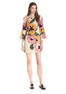 Tracy Reese Women's Flounce Sleeve Mini T Dress, Hot Pink Poppy, 6