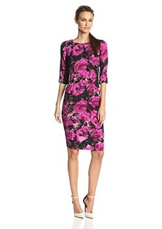 Tracy Reese Women's Fuschia Mums Print T Dress, Fuchsia Mums, 2