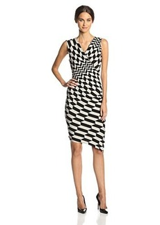 Tracy Reese Women's Graduated-Herringbone Ruched Jersey Dress