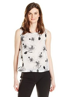 Tracy Reese Women's Hibiscus Embroidered Cotton Organdy Tank