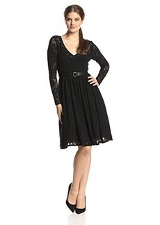 Tracy Reese Women's Lace Long-Sleeve Fit-and-Flare Dress