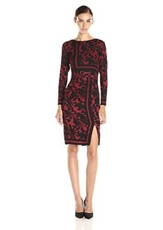 Tracy Reese Women's Placement Print T Dress, Brick/Black Spider Floral, 10
