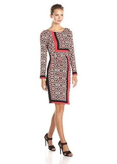 Tracy Reese Women's Placement Print T Dress, Modular Foulard, 2