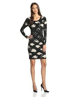 Tracy Reese Women's Plaid Jacquard Three-Quarter  Dress