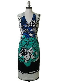 Tracy Reese Women's Print Sleeveless T Dress, Gouache Floral Combo, 4