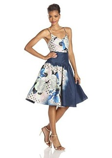 Tracy Reese Women's Printed Taffeta Cami Dress, Moonshine Floral Placement, 4