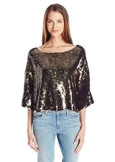 Tracy Reese Women's Sequin Top, Smokey Gold, Large