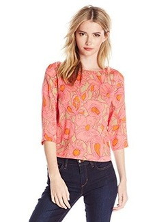 Tracy Reese Women's Silk Floral-Print Blouse
