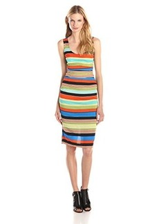 Tracy Reese Women's Silk Sheath Dress, Bold Stripe, 4