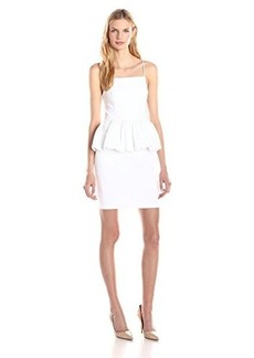 Tracy Reese Women's Stretch Cotton Peplum Dress, Soft White, 2