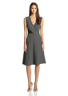 Tracy Reese Women's Textured Knit Fit and Flare Dress