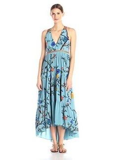 Tracy Reese Women's Tiered Halter Maxi Dress, Botanical Wallflower, 8