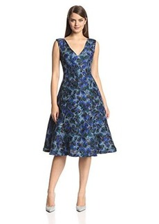 Tracy Reese Women's Warp Petal Jacquard Fit and Flare Dress