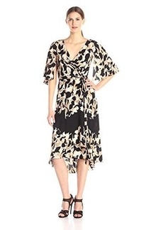 Tracy Reese Women's Wrap Kimono Dress, Abstract Tulip, Large