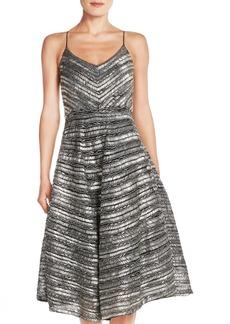 Tracy Reese 'Yelena' Beaded Fit & Flare Midi Dress