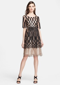Tracy Reese Zigzag Fit & Flare Dress