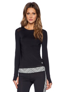 Trina Turk Active Mesh Back Long Sleeve Top
