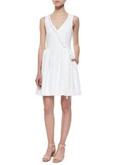 Trina Turk Alessia Fit-and-Flare Tassel-Trim Dress