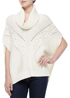 Trina Turk Amarisa Cable-Knit Cowl-Neck Sweater