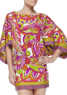 Trina Turk Amazonia Printed Fitted Tunic Coverup