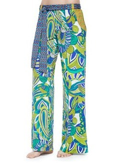 Trina Turk Amazonia Printed Wide-Leg Pants