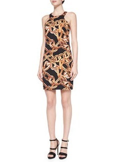 Trina Turk Aptos 2 Chain-Link Print Dress