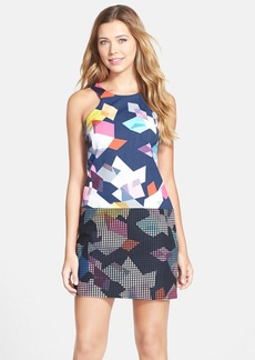 Trina Turk 'Aptos' Geometric Print Faille & Jacquard A-Line Dress