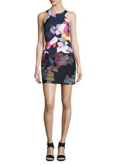 Trina Turk Aptos Graphic-Print Drop-Waist Dress