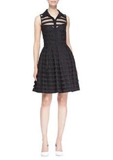 Trina Turk Ashley Sheer-Stripe Dress