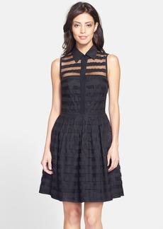 Trina Turk 'Ashley' Stripe Crinoline Shirtdress