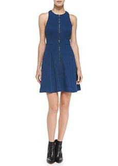 Trina Turk Bishop Zip-Front A-Line Racerback Dress