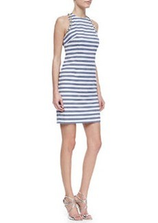 Trina Turk Camille Striped-Knit Bead-Detail Dress