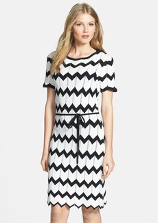 Trina Turk 'Carlotta' Chevron Stripe Sweater Dress