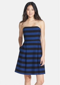 Trina Turk 'Cessily' Stripe Strapless Fit & Flare Dress