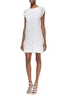 Trina Turk Clara Lace-Overlay Cap-Sleeve Dress