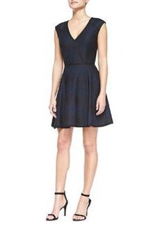 Trina Turk Corina Cap-Sleeve Bonded Lace Dress