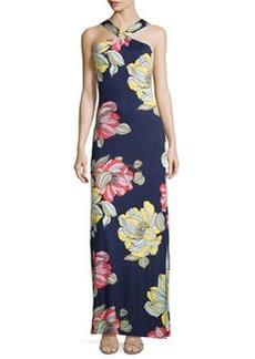 Trina Turk Demi Floral-Print Maxi Halter Dress