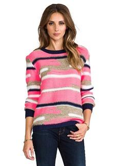 Trina Turk Disah Merina/Nylon Sweater in Pink