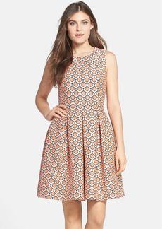 Trina Turk 'Doly' Jacquard Fit & Flare Dress