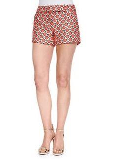 Trina Turk Dot Jacquard Short Shorts