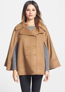 Trina Turk Double Breasted Wool Blend Cape