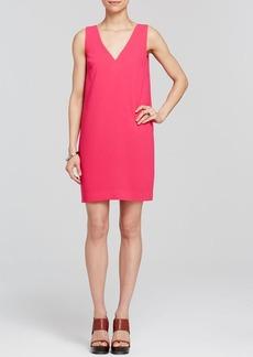 Trina Turk Dress - Azure V-Neck Crepe Shift